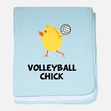 Volleyball Chick baby blanket