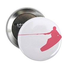 """Pink Wakeboard Nose Grab 2.25"""" Button"""