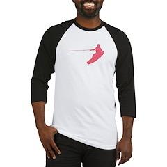 Pink Wakeboard Nose Grab Baseball Jersey