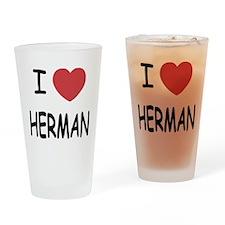 I heart herman Drinking Glass