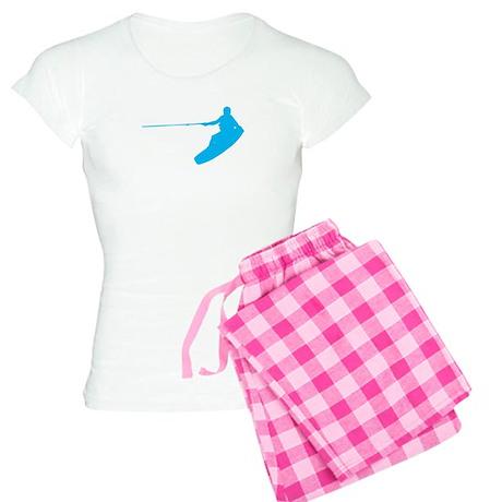 Blue Wakeboard Nose Grab Women's Light Pajamas
