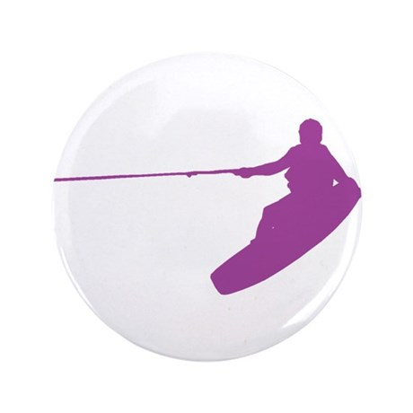 """Purple Wakeboard Nose Grab 3.5"""" Button"""