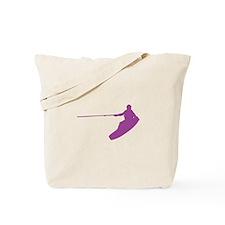 Purple Wakeboard Nose Grab Tote Bag