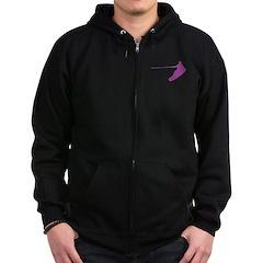 Purple Wakeboard Nose Grab Zip Hoodie