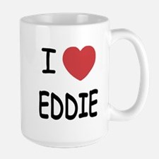 I heart eddie Large Mug