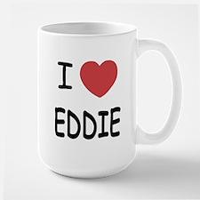 I heart eddie Large Mug