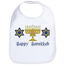 Happy Hanukkah Menorah and St Bib