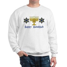 Happy Hanukkah Menorah and St Sweatshirt