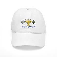 Happy Hanukkah Menorah and St Baseball Cap