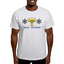 Happy Hanukkah Menorah and St T-Shirt