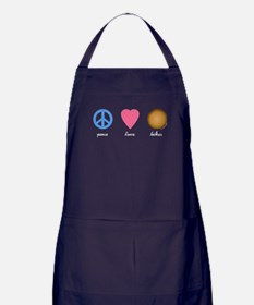 Peace Love Latkes Apron (dark)