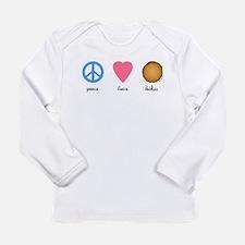 Peace Love Latkes Long Sleeve Infant T-Shirt