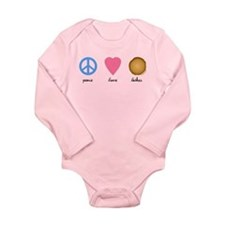 Peace Love Latkes Long Sleeve Infant Bodysuit