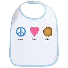 Peace Love Latkes Bib