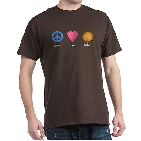 Peace Love Latkes Dark T-Shirt