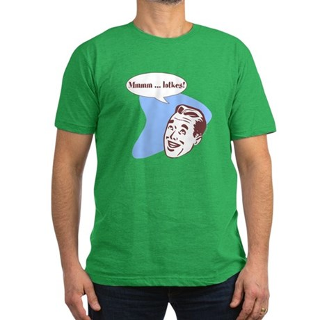 Retro Hanukkah Men's Fitted T-Shirt (dark)