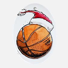 Xmas Basketball Ornament (Oval)
