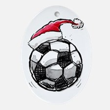 Xmas Soccer Ornament (Oval)