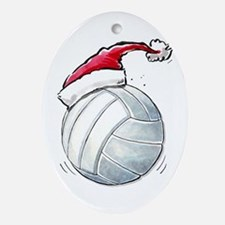 Xmas Volleyball Ornament (Oval)