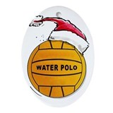 Water polo christmas Oval Ornaments