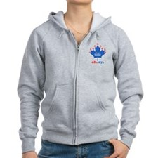 Canadian Chanuka Zip Hoody