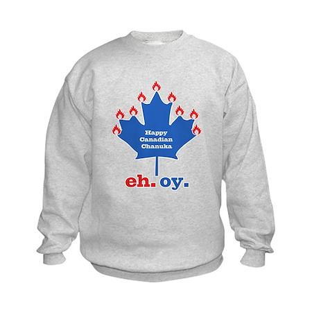 Canadian Chanuka Kids Sweatshirt
