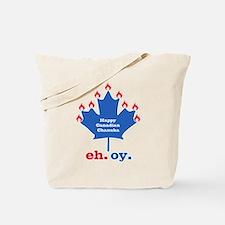 Canadian Chanuka Tote Bag