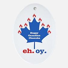 Canadian Chanuka Oval Ornament