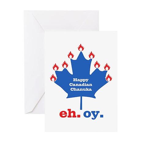 Canadian Chanuka Greeting Card By Rotemgear