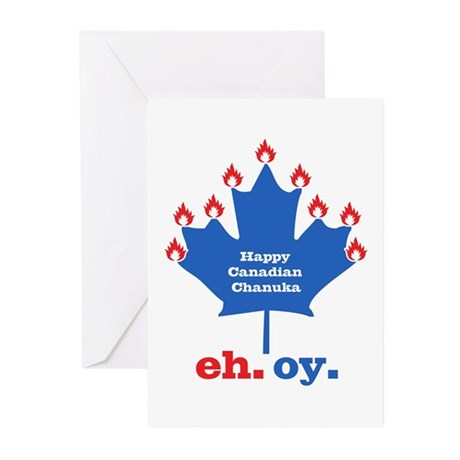 Canadian Chanuka Greeting Cards (Pk of 20)