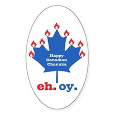 Canadian Chanuka Oval Decal