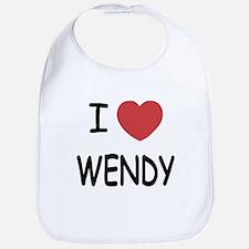 I heart wendy Bib