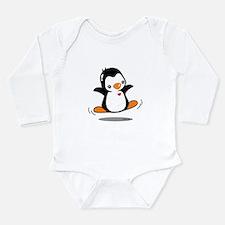 Happy Penguin (2) Long Sleeve Infant Bodysuit