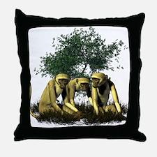 Monkeys Throw Pillow