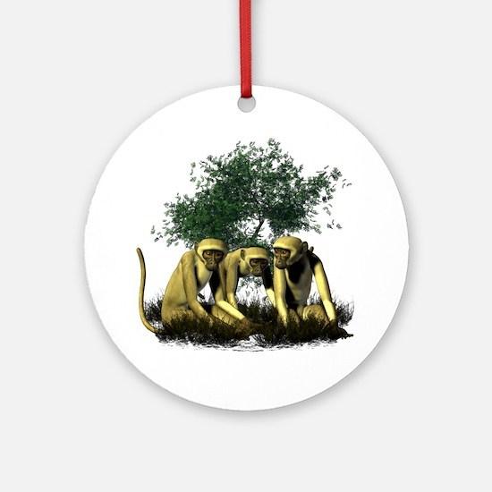 Monkeys Ornament (Round)