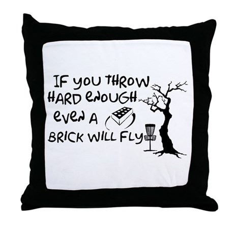 Even a brick will fly Throw Pillow