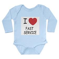 I heart fast service Long Sleeve Infant Bodysuit