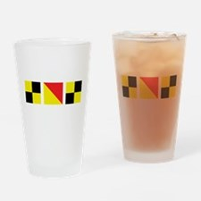 LOL Nautical Flags Drinking Glass