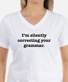 I'm Silently Correcting Your Shirt