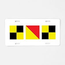 LOL Nautical Flags Aluminum License Plate
