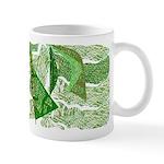 Green 3-D Abstract Mug