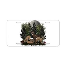 Deer Aluminum License Plate