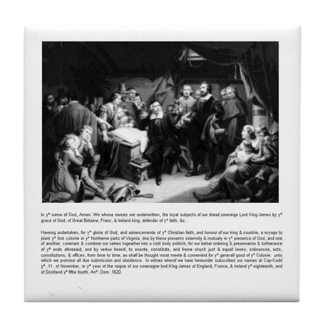 The Pilgrim Fathers Compact tile coaster