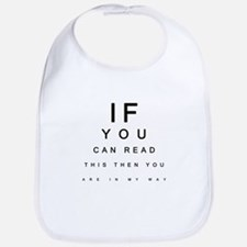 If you can read this... Bib