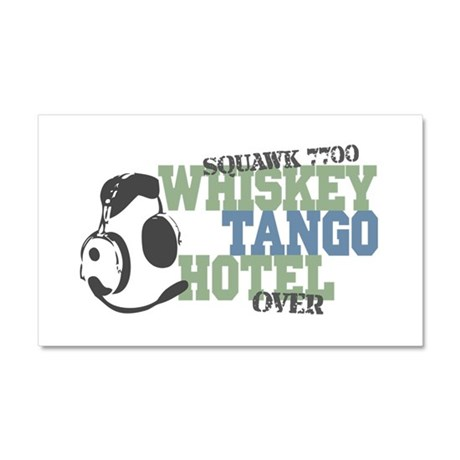 Aviation Whiskey Tango Hotel Car Magnet 20 x 12