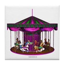 The Purple Carousel Tile Coaster