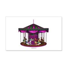 The Purple Carousel 22x14 Wall Peel