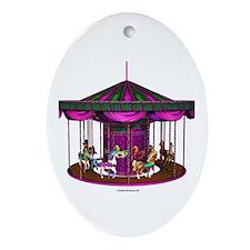 The Purple Carousel Ornament (Oval)