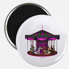 "The Purple Carousel 2.25"" Magnet (100 pack)"