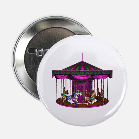 """The Purple Carousel 2.25"""" Button (10 pack)"""